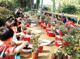 양산시 '찾아가는 도시농업' 아파트 순회교육/관내 화훼농가 강사, 화분 가꾸기 및 분갈이 교육
